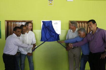 Luis Tibé inaugura obras em Luz, na região Centro-Oeste de Minas Gerais