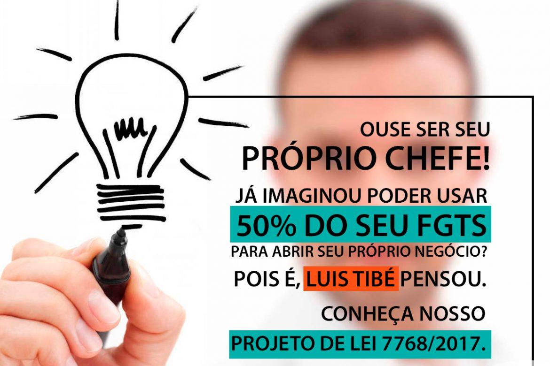 Luis Tibé protocola projeto que incentiva o empreendedorismo